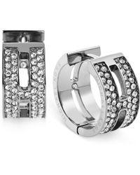Michael Kors H Huggie Hoop Earrings silver - Lyst