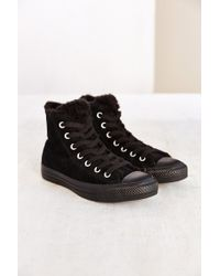 Converse Suede  Fur Womens High-top Sneaker - Lyst