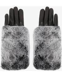 Carolina Amato - Rex Rabbit Fur Top Full Leather Gloves - Lyst