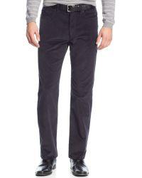 Calvin Klein Stretch Slim-fit Corduroy Pants - Lyst
