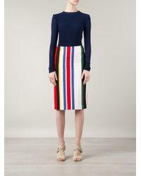 Marni Candy Stripe Pencil Skirt - Lyst