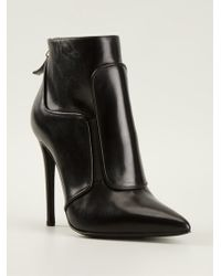 Gianmarco Lorenzi Pointed Toe Ankle Boots - Lyst