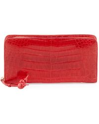 Nancy Gonzalez - Crocodile Zip Continental Wallet - Lyst