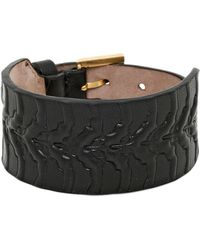 Alexander McQueen Rib Cage Leather Bracelet - Lyst