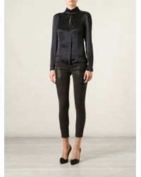 Blumarine Embroidered Skinny Fit Jeans - Lyst