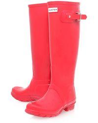 Hunter Red Original Gloss Wellington Boots - Lyst