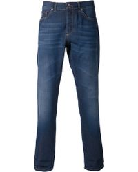 Brunello Cucinelli Blue Denim Jeans - Lyst