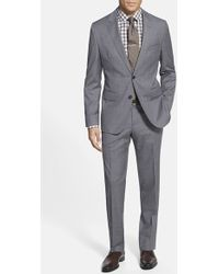 Boss by Hugo Boss Men'S Big & Tall 'Johnson/Lenon' Classic Fit Wool & Silk Suit - Lyst