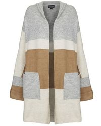 Topshop Hooded Colour-Block Cardigan - Lyst
