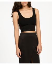 Groceries Fitted Crop Tank - Lyst