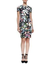 McQ by Alexander McQueen Short-Sleeve Floral Festival-Print Dress - Lyst