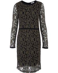 Day Birger Et Mikkelsen Black Weave Long Sleeve Lace Dress - Lyst