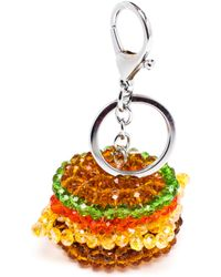 House Of Holland Beaded Burger Key Charm - Lyst
