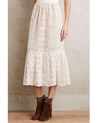 Anna Sui | Snowlace Midi Skirt | Lyst
