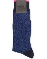 Duchamp Lattice Geometric-Patterned Socks - For Men - Lyst