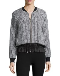 3.1 Phillip Lim | Chunky Knit Bomber Jacket | Lyst
