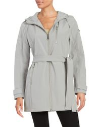 Calvin Klein - Soft Shell Hooded Jacket - Lyst