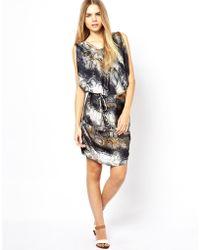 Aryn K. Dress in Navy Snake Print - Lyst