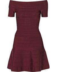 Hervé Léger Liza Bandage Mini Dress - Lyst
