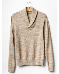 Gap Marled Shawlneck Sweater - Lyst