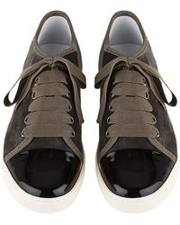 Lanvin Patent Toecap Sneaker - Lyst