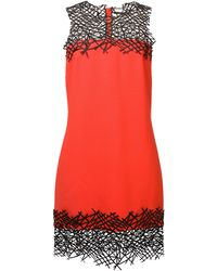 Christopher Kane Red Wool Crepe Dress - Lyst