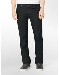 Calvin Klein Slim Straight Leg Dark Gloss Wash Jeans - Lyst