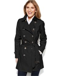 Jones New York Double-Breasted Trench Coat - Lyst