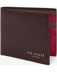 Ted Baker Colour Block Bi-Fold Wallet - Lyst