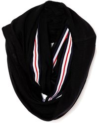 Asos Infinity Scarf with Stripe Tape Detail - Lyst