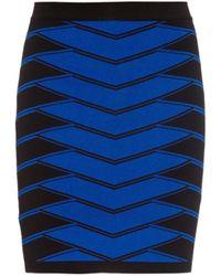 Balmain Bi-Colour Stretch Mini-Skirt - Lyst
