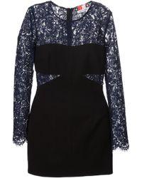 MSGM Lace Panel Dress - Lyst