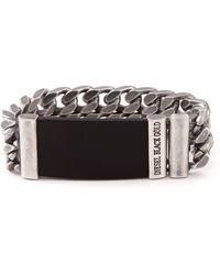 Diesel Black Gold Beat Bracelet - Lyst