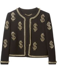 Moschino Chain Embellished Jacket - Lyst