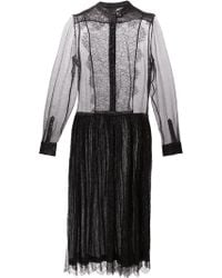 Preen Pleated Dress - Lyst