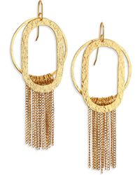 Stephanie Kantis Paris Romance Double Loop Fringe Earrings - Lyst