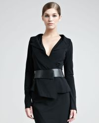 Donna Karan New York Structured Matte Jersey Jacket - Lyst