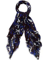 Alexander McQueen Black Camouflage Skull Silk Scarf - Lyst