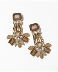 Ann Taylor Botanique Cluster Drop Earrings - Lyst