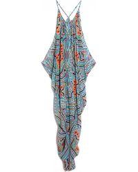 Mara Hoffman Drape Chiffon Dress - Lyst
