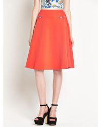 River Island Zip Pocket Full Midi Skirt - Lyst