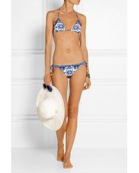 Vix Pyramid Embellished Printed Bikini Briefs - Lyst