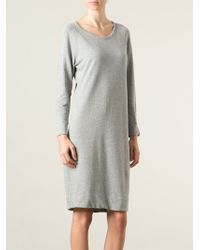 James Perse Raglan Sleeve Sweatshirt Dress - Lyst