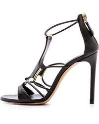Casadei Corded Sandals With Hardware - Nero - Lyst