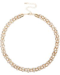 River Island Gold Tone Diamante Short Rope Necklace gold - Lyst