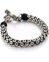 King Baby Studio   Star Tri-bead Bracelet   Lyst