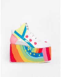 YRU - Qozmo Hi Feature Flatform Shoes - Lyst