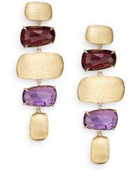 Marco Bicego - Murano Amethyst, Rhodolite & Yellow Gold Drop Earrings - Lyst