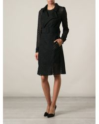 Zuhair Murad - Honeycomb Embroidered Trench Coat - Lyst