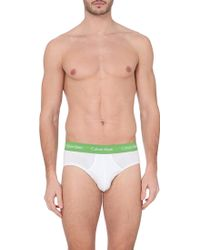 Calvin Klein 3 Pack Branded Briefs - For Men - Lyst